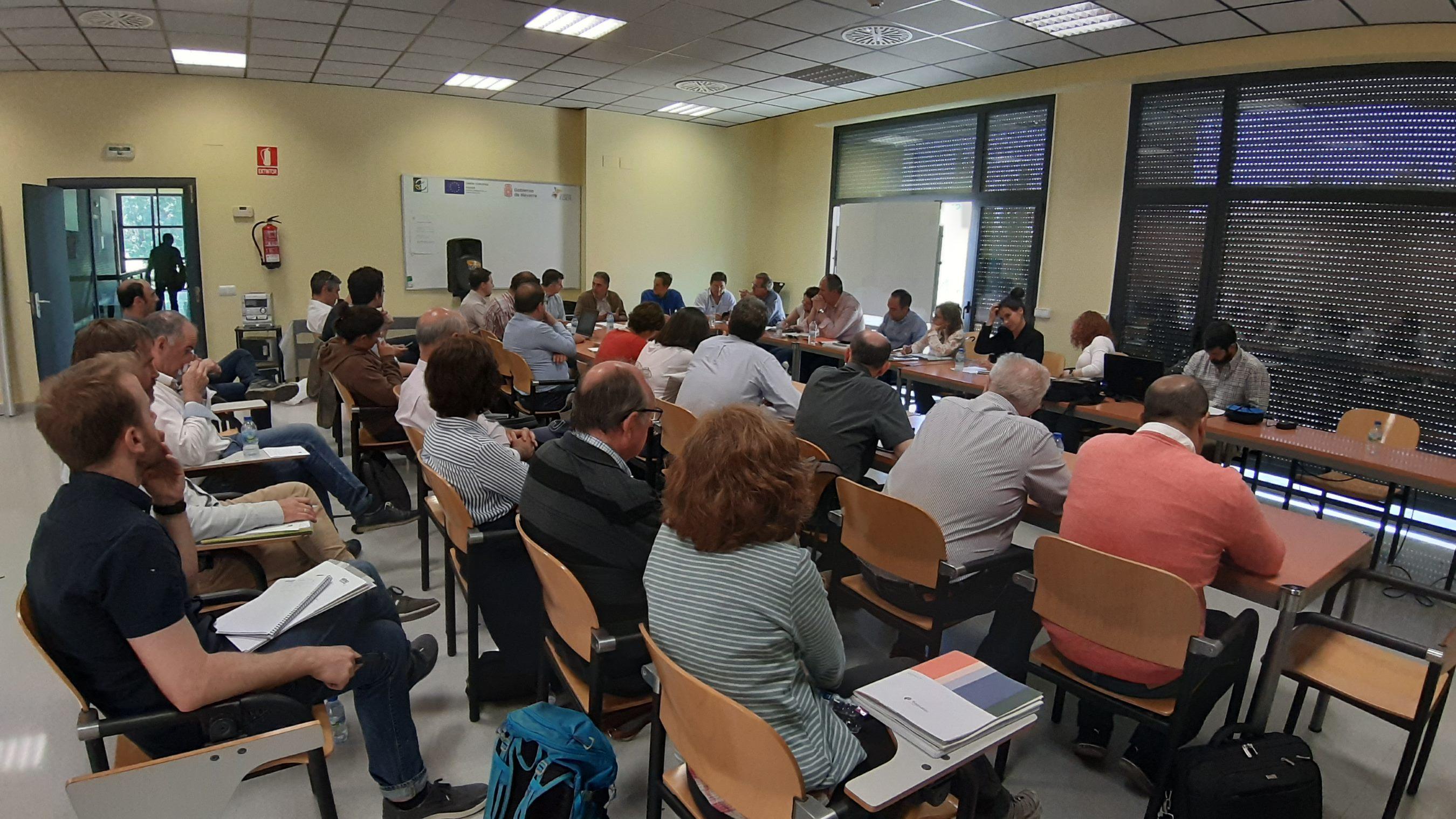 Reunión de coordinación en la localidad de Funes (Navarra)
