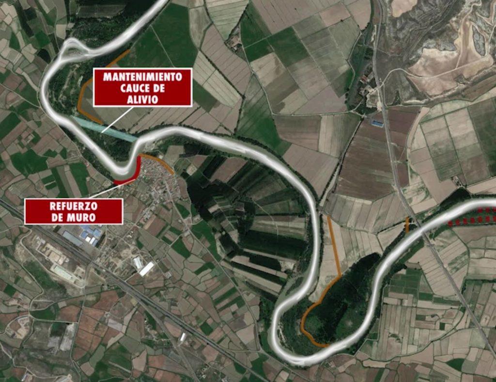 Figura 6. Actuaciones realizadas tras la avenida de 2018 (Confederación Hidrográfica del Ebro).