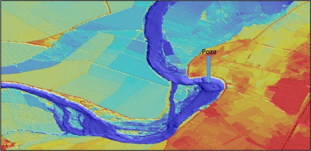 Figura 9. Fragmento del modelo digital del terreno (elaboración propia).