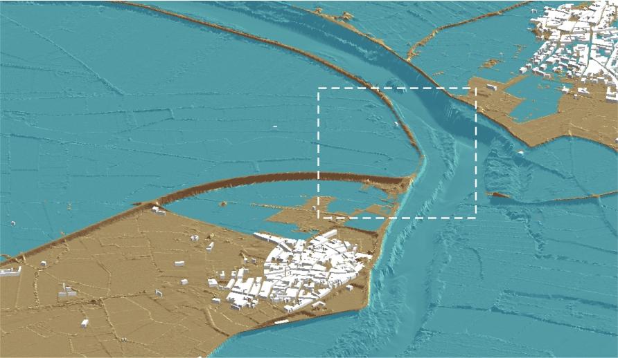 Desbordamientos sobre las defensas del tramo 6 (elaboración propia)