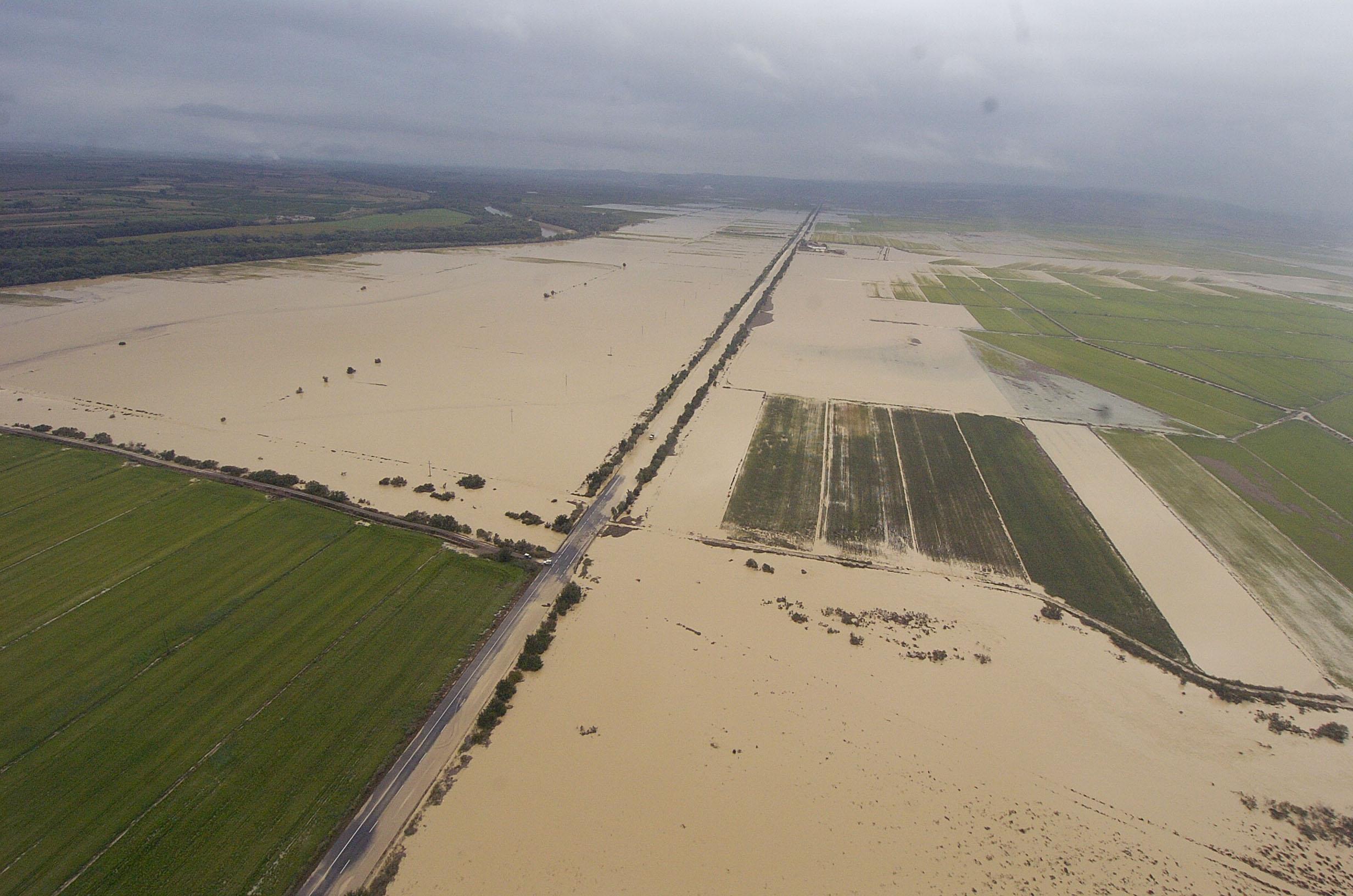 Inundación río Huecha en Cortes